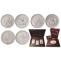 Set of three USA (New Orleans mint) half dollar Seated Liberty, 1861-O, from the SS Republic (1865),