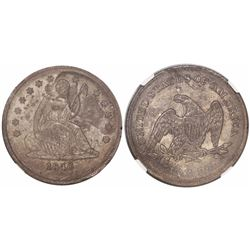 USA (New Orleans mint), quarter dollar seated Liberty, 1840-O, no drapery, encapsulated NGC UNC deta