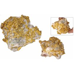 Natural gold-in-quartz specimen, 316.7 grams, from the Sixteen-to-One Mine in Sierra County, Califor