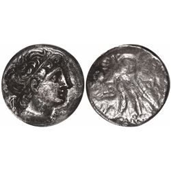 Ancient Egypt, silver tetradrachm, Ptolemy IX, Paphos mint, Year 2 (111/110 BC).