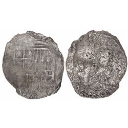Mexico City, Mexico, cob 8 reales, Philip III, assayer not visible, ex-Mendel Peterson, very rare pr