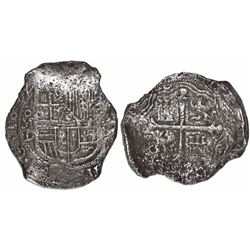 Mexico City, Mexico, cob 8 reales, 1622D, Grade 1, rare, with original tag but certificate missing.