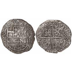 Potosi, Bolivia, cob 8 reales, (16)17M, Grade 2, with original tag but certificate missing.