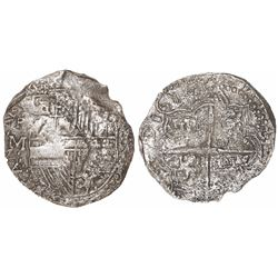 Potosi, Bolivia, cob 8 reales, 1617M, Grade 3.