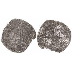 Potosi, Bolivia, cob 8 reales, 1618(T), Grade 3.