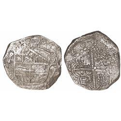 Potosi, Bolivia, cob 8 reales, (1)620T, Grade 2.