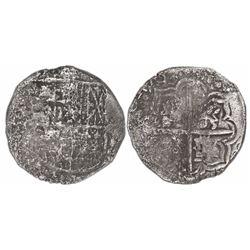 Potosi, Bolivia, cob 4 reales, 1620T, Grade 3.