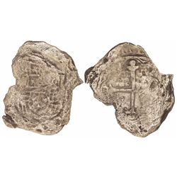 Mexico City, Mexico, cob 8 reales, Philip III, assayer not visible, Grade 4, with original tag but c