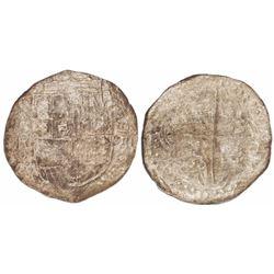 Potosi, Bolivia, cob 8 reales, (1618)PAL (rare).