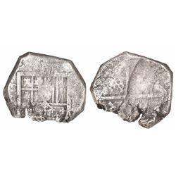 Seville, Spain, cob 4 reales, Philip III, assayer D.