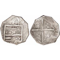 Toledo, Spain, cob 2 reales, Philip IV, assayer P.