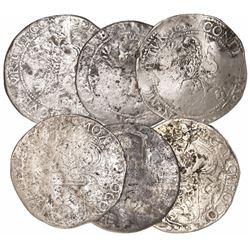 """Lot of 3 Dutch """"lion"""" daalders: Utrecht 1616; Utrecht 1618(?); and mint and date uncertain."""