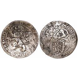 "West Friesland, Netherlands, half ""lion"" daalder, 1604, rare."
