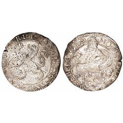 """Holland, United Netherlands, half """"lion"""" daalder, 1616."""