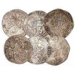 "Lot of 3 Dutch half ""lion"" daalders: Holland 1623(?): Utrecht 16(??): and Westfriesland 16(??)."