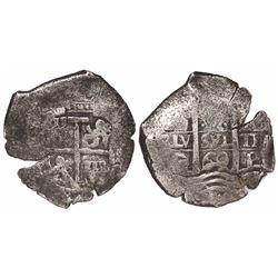 Potosi, Bolivia, cob 4 reales, 1669E.