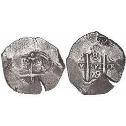 Potosi, Bolivia, cob 8 reales, 1679C, ex-Meylach collection.