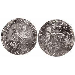 Brabant, Spanish Netherlands (Antwerp mint), portrait ducatoon, Philip IV, 1639.