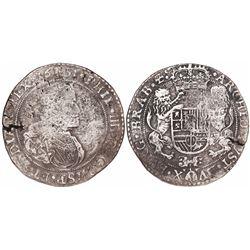 Brabant, Spanish Netherlands (Antwerp mint), portrait ducatoon, Philip IV, 1651.