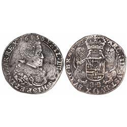 Brabant, Spanish Netherlands (Brussels mint), portrait half ducatoon, Philip IV, 1656.