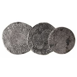 Lot of 3 Brabant, Spanish Netherlands, portrait coins: ducatoon, Philip IV, Antwerp mint, 1654; duca