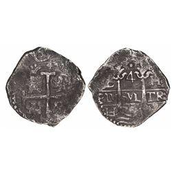 Lima, Peru, cob 4 reales, 170(?)H.