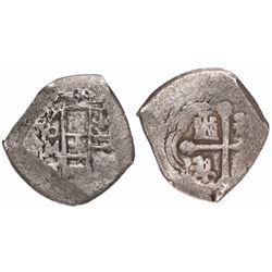 Mexico City, Mexico, cob 4 reales, (1)713J.