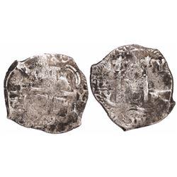 Potosi, Bolivia, cob 8 reales, 1709Y, rare.
