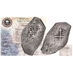 Mexico City, Mexico, cob 8 reales, Philip V, assayer not visible, extremely rare provenance, with or