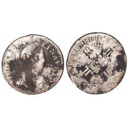 France (mint uncertain), ecu, Louis XV, date not visible.