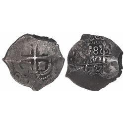 Potosi, Bolivia, cob 8 reales, 1727Y, Louis I, rare issue and very rare provenance.