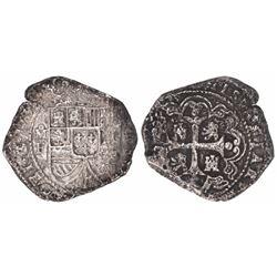 Mexico City, Mexico, klippe 8 reales, 1733F.