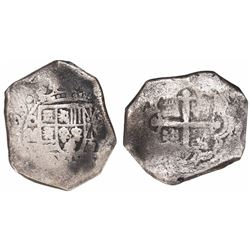 Mexico City, Mexico, cob 8 reales, (1)729R.