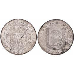 Mexico City, Mexico, pillar 8 reales, Ferdinand VI, 1749MF, scarce provenance.