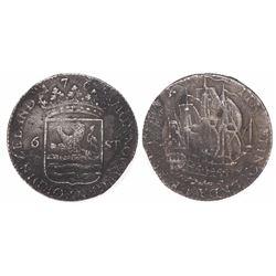 Zeeland, Netherlands, 6 stuivers, 1765.