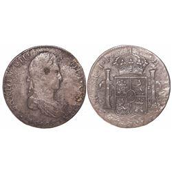 Lima, Peru, bust 8 reales, Ferdinand VII, 1818JP.