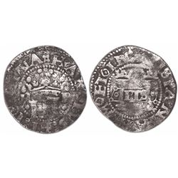 """Mexico City, Mexico, 1/2 real, Charles-Joanna, """"Early Series,"""" assayer P to right, mintmark M to lef"""