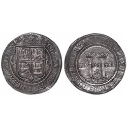 """Mexico City, Mexico, 4 reales, Charles-Joanna, """"Late Series,"""" assayer G to right, mintmark M to left"""