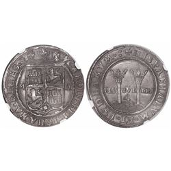 """Mexico City, Mexico, 4 reales, Charles-Joanna, """"Late Series,"""" M to left, A to right, encapsulated NG"""