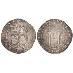 """Mexico City, Mexico, 2 reales, Charles-Joanna, """"Late Series,"""" assayer R to left, mintmark M to right"""