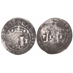 """Mexico City, Mexico, 1/2 real, Charles-Joanna, """"Late Series,"""" assayer L to right, mintmark oM below"""