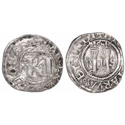 """Mexico City, Mexico, 1/2 real, Charles-Joanna, """"Late Series,"""" assayer o in middle, mintmark oM to le"""