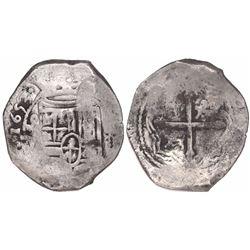 Mexico City, Mexico, cob 8 reales, 1653(P).
