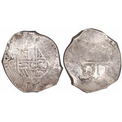 Mexico City, Mexico, cob 8 reales, 1669G, very rare.