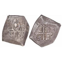 Mexico City, Mexico, cob 8 reales, Philip V, assayer not visible, with Indonesian countermark on cro