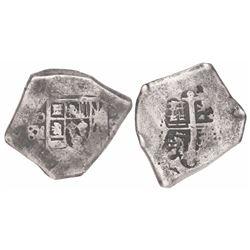 Mexico City, Mexico, cob 8 reales, Philip V or Louis I, assayer D.