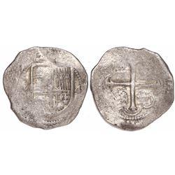 Mexico City, Mexico, cob 4 reales, 1609A, rare.