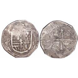 Mexico City, Mexico, cob 4 reales, Philip III, assayer A.