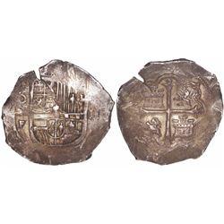 Mexico City, Mexico, cob 2 reales, Philip III, assayer F.