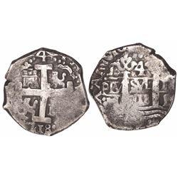 Lima, Peru, cob 4 reales, 1718M.